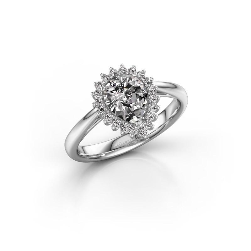 Verlovingsring Chere 1 950 platina lab-grown diamant 0.95 crt