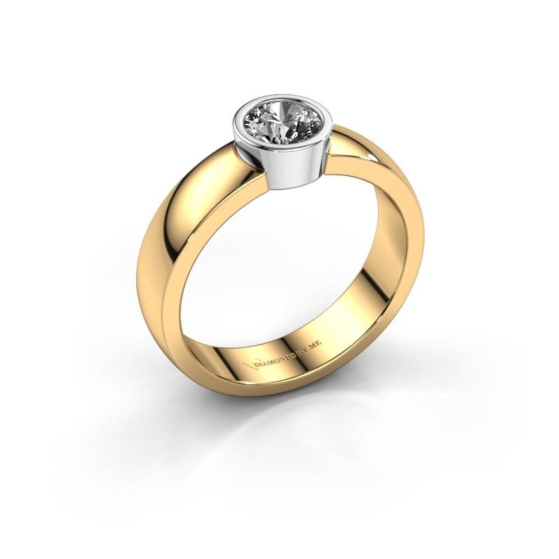 Ring Ise 1 585 goud diamant 0.50 crt