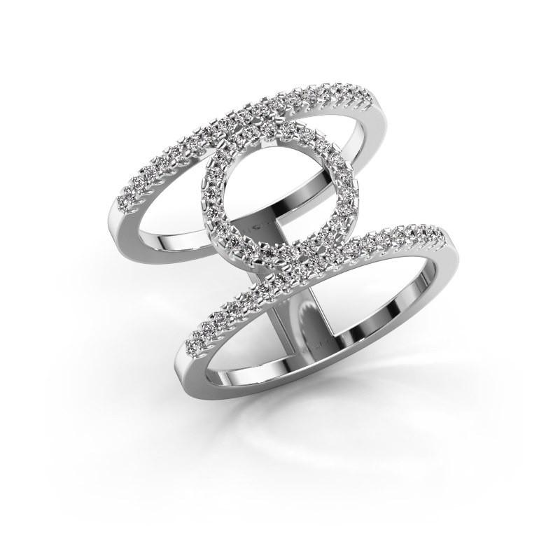 Ring Latoria 2 925 zilver diamant 0.402 crt