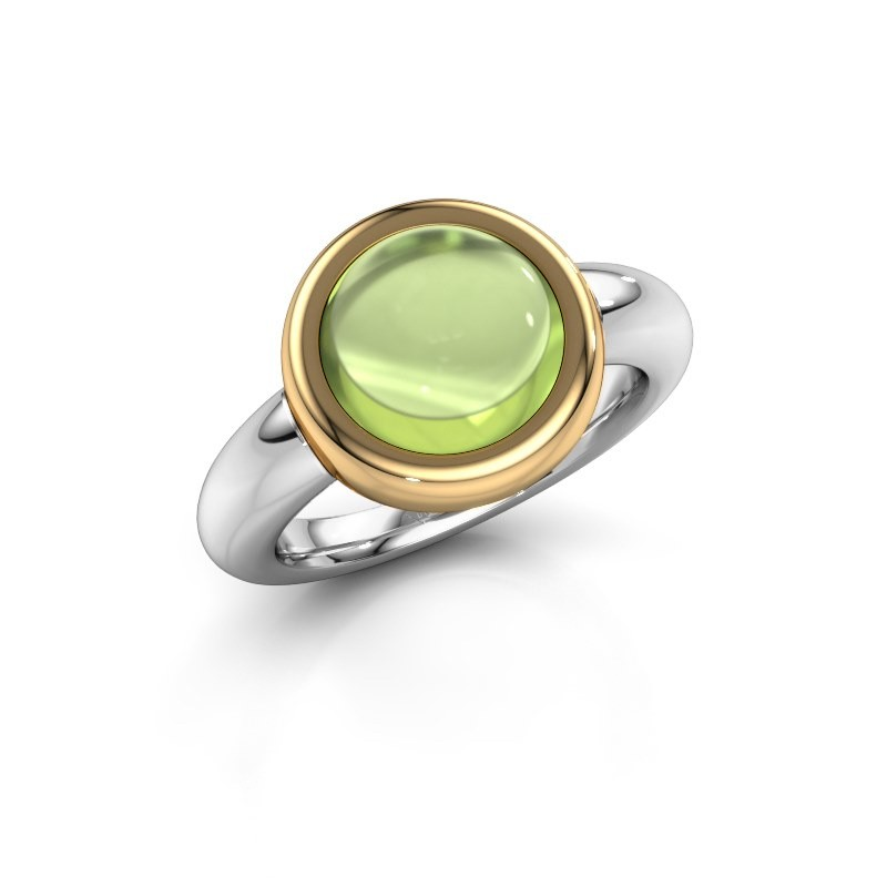 Ring Jenae 585 witgoud peridoot 10 mm