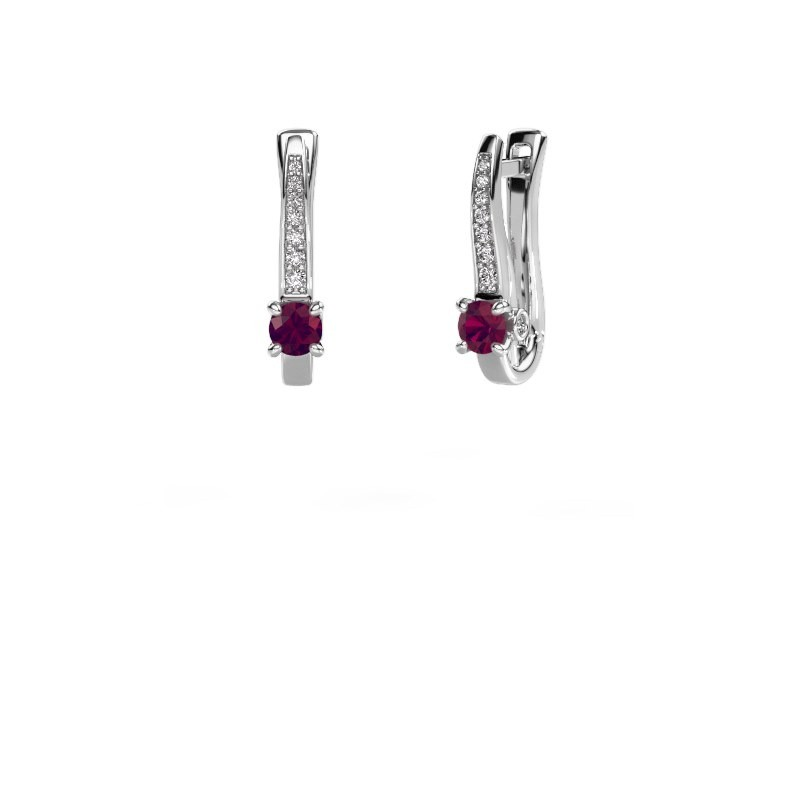 Ohrringe Valorie 925 Silber Rhodolit 4 mm