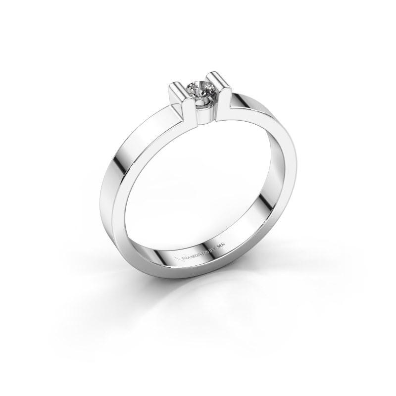 Verlovingsring Sofie 1 585 witgoud lab-grown diamant 0.10 crt