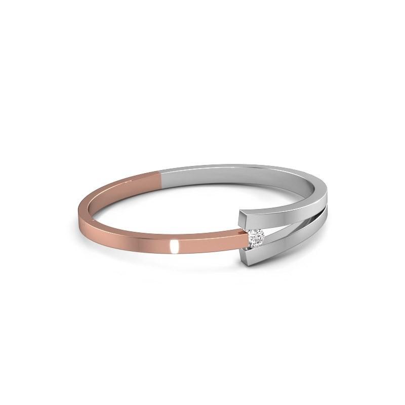 Slavenarmband Sofia 585 rosé goud diamant 0.50 crt