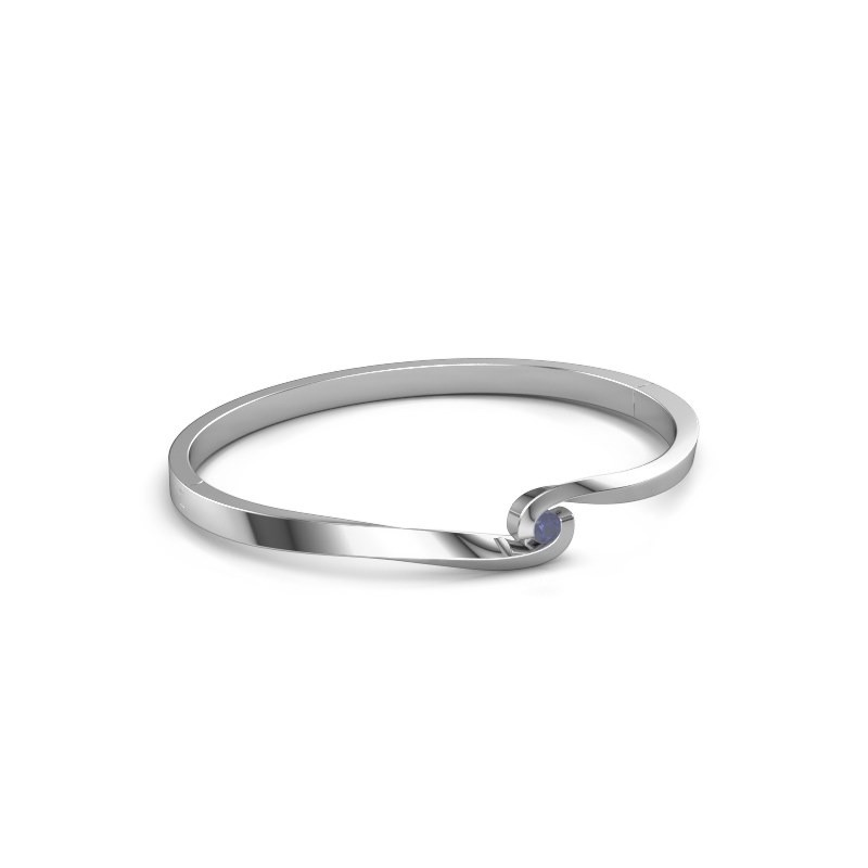 Bangle Sheryl 585 white gold sapphire 3.7 mm