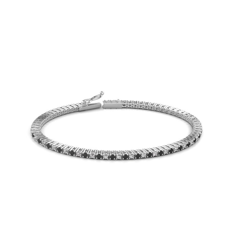 Tennis bracelet Simone 585 white gold black diamond 2.376 crt