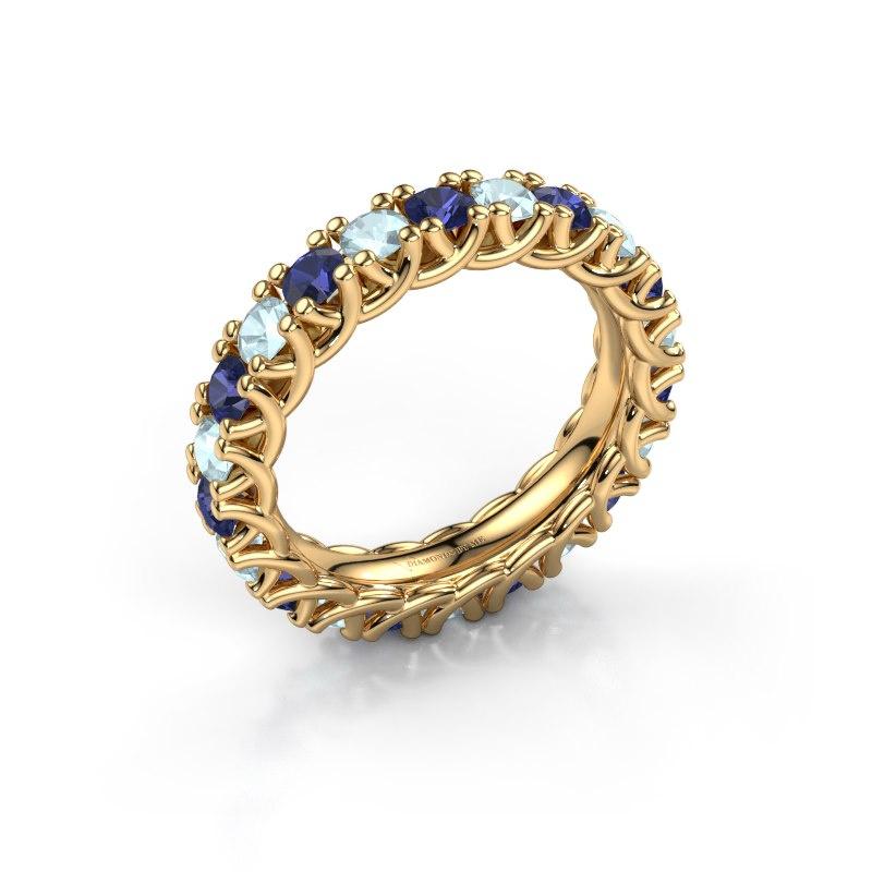 Ring Fenna 585 goud saffier 3 mm