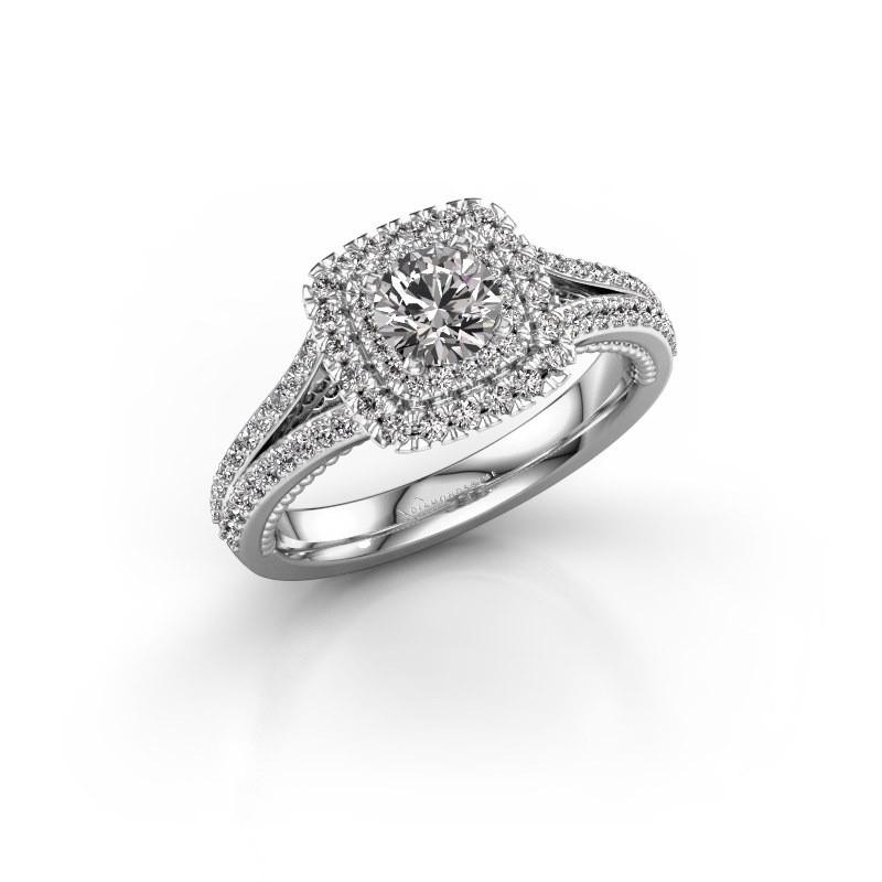 Verlovingsring Annette 585 witgoud diamant 1.072 crt