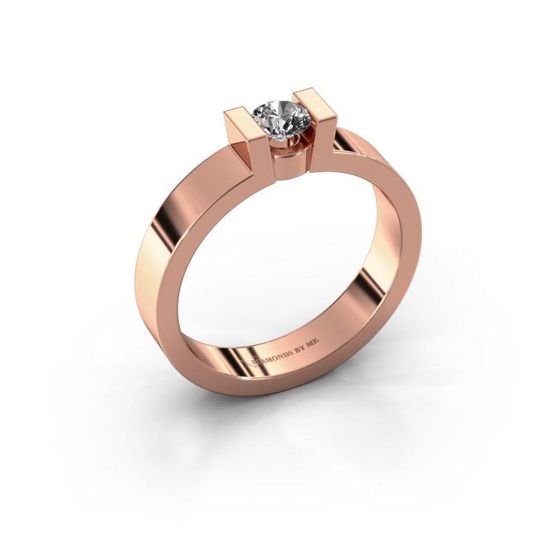 Verlovingsring Lieve 1 375 rosé goud diamant 0.25 crt