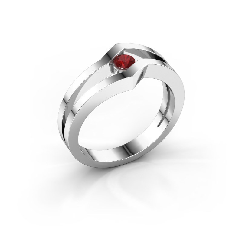Ring Elize 925 silver ruby 3.4 mm