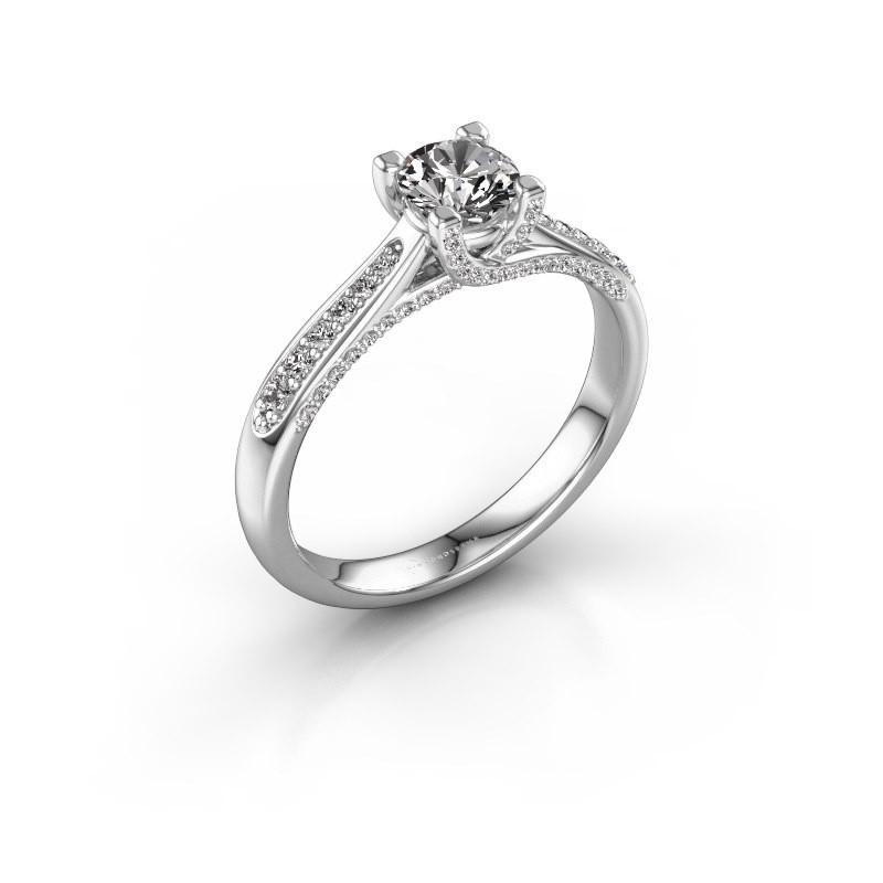 Verlovingsring Mia 3 950 platina diamant 0.748 crt