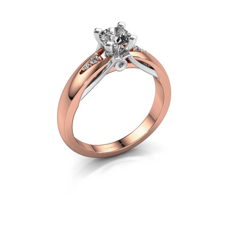 Verlovingsring Ize 585 rosé goud diamant 0.546 crt
