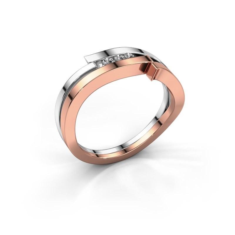 Ring Amelie 585 rose gold zirconia 1.7 mm