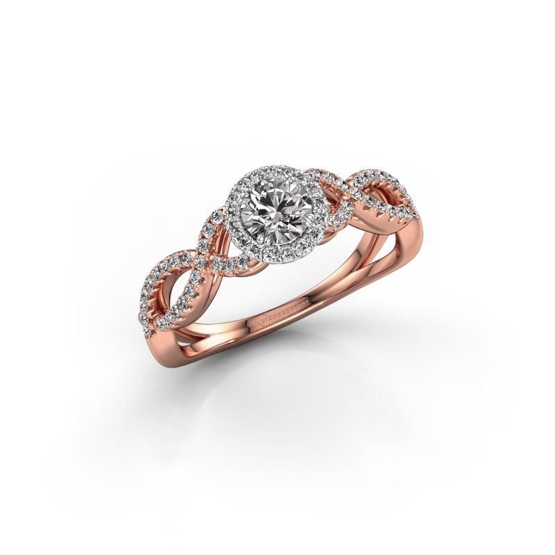 Engagement ring Dionne rnd 585 rose gold diamond 0.61 crt