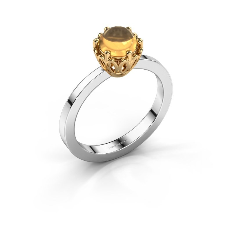 Ring Marly 585 witgoud citrien 6 mm