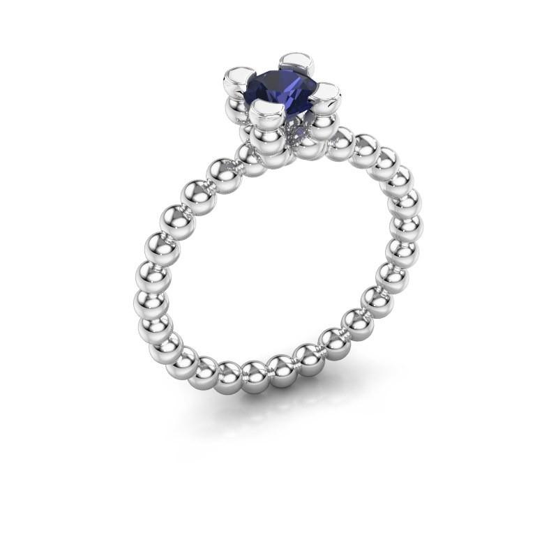 Ring Aurore 925 zilver saffier 5 mm