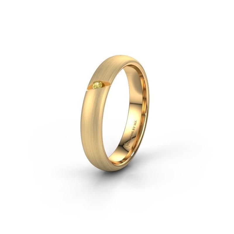 Trouwring WH0176L34AP 375 goud gele saffier ±4x1.7 mm