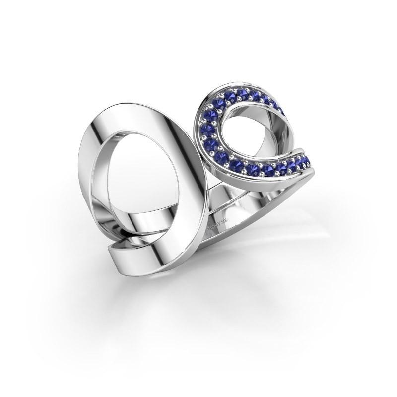 Ring Aniek 925 zilver saffier 1.3 mm