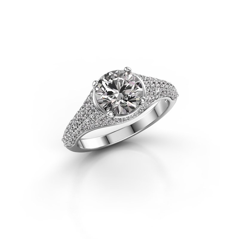 Ring Lovella 585 witgoud diamant 1.929 crt