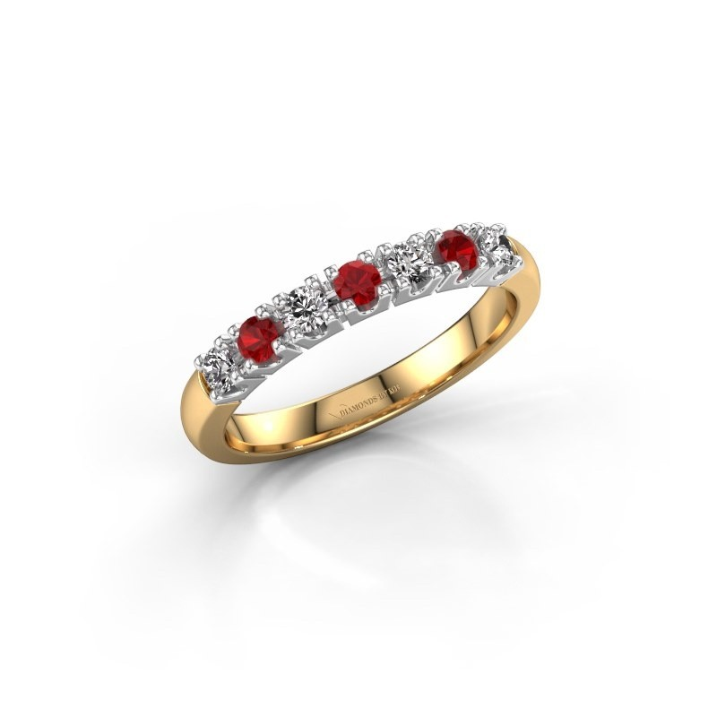 Engagement ring Rianne 7 585 gold ruby 2.4 mm