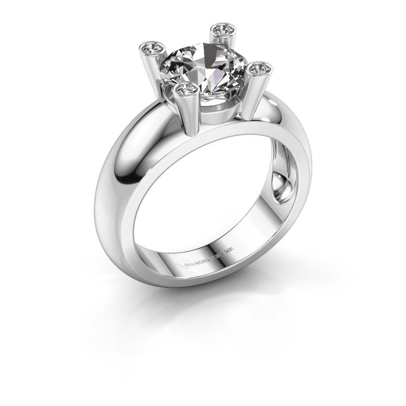 Bague Tamara RND 585 or blanc diamant synthétique 2.00 crt