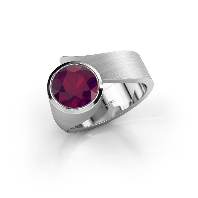 Ring Nakia 925 zilver rhodoliet 8 mm