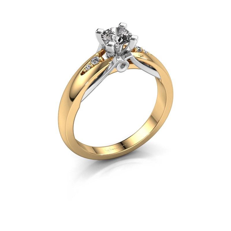 Verlovingsring Ize 585 goud diamant 0.446 crt