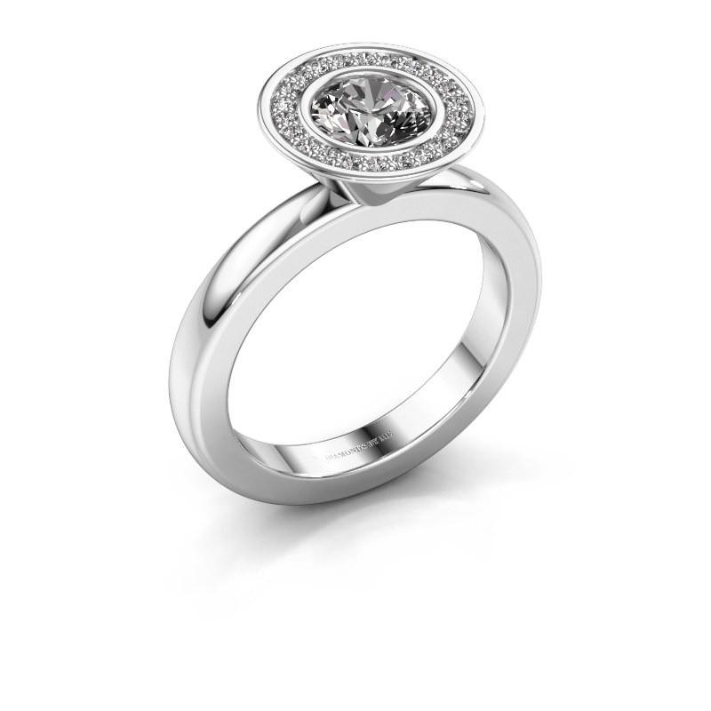 Stapelring Danille 950 platina lab-grown diamant 0.91 crt
