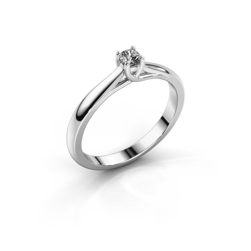 Bague de fiançailles Mia 1 950 platine diamant 0.08 crt