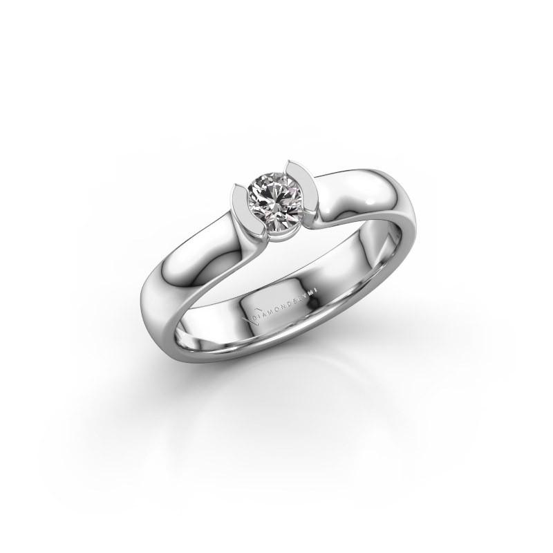 Verlovingsring Ophelia 585 witgoud diamant 0.25 crt