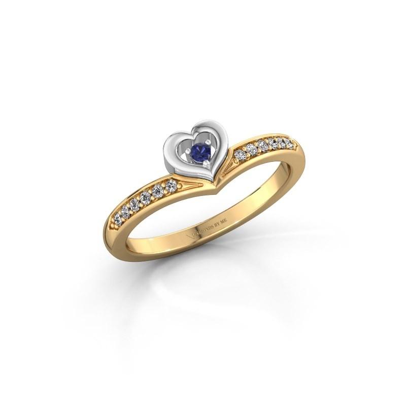 Ring Mimi 585 goud saffier 2 mm