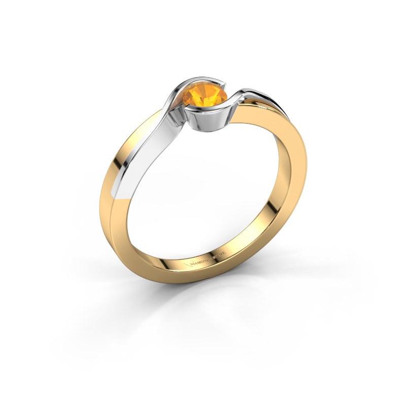 Ring Lola 585 Gold Citrin 4 mm