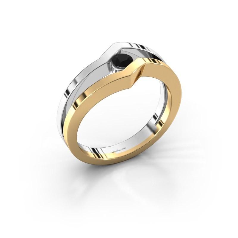 Ring Elize 585 goud zwarte diamant 0.18 crt
