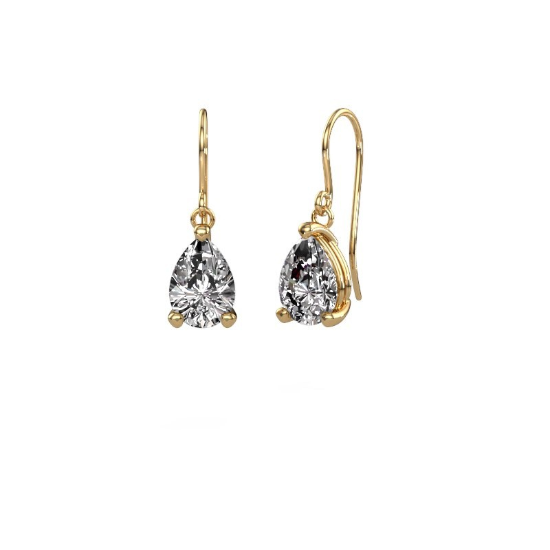 Drop earrings Laurie 1 585 gold diamond 0.95 crt