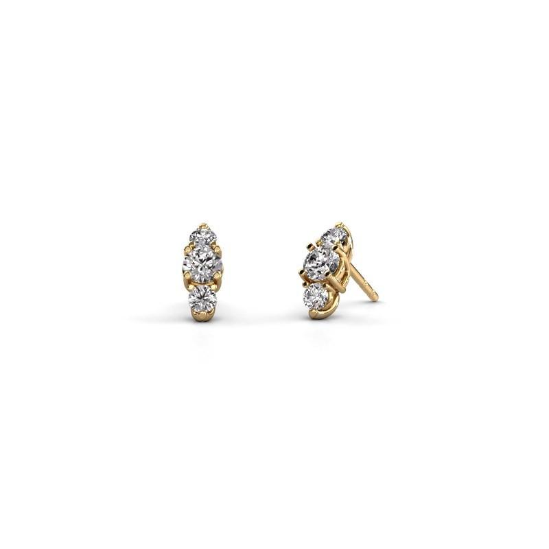 Oorbellen Amie 375 goud diamant 1.00 crt