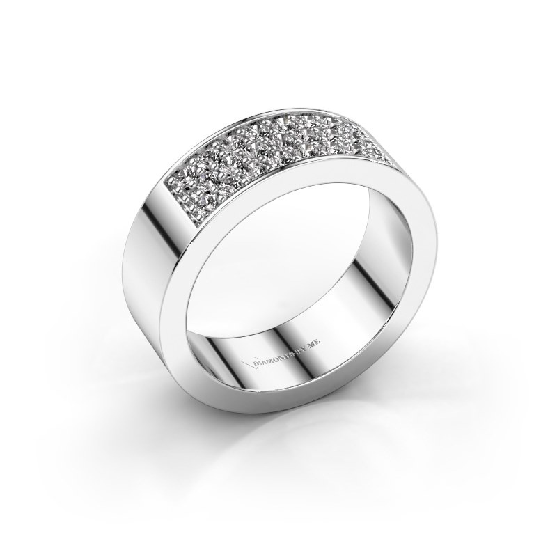 Ring Lindsey 5 585 witgoud zirkonia 1.7 mm