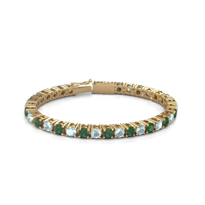 Tennisarmband Ming 375 goud smaragd 5 mm