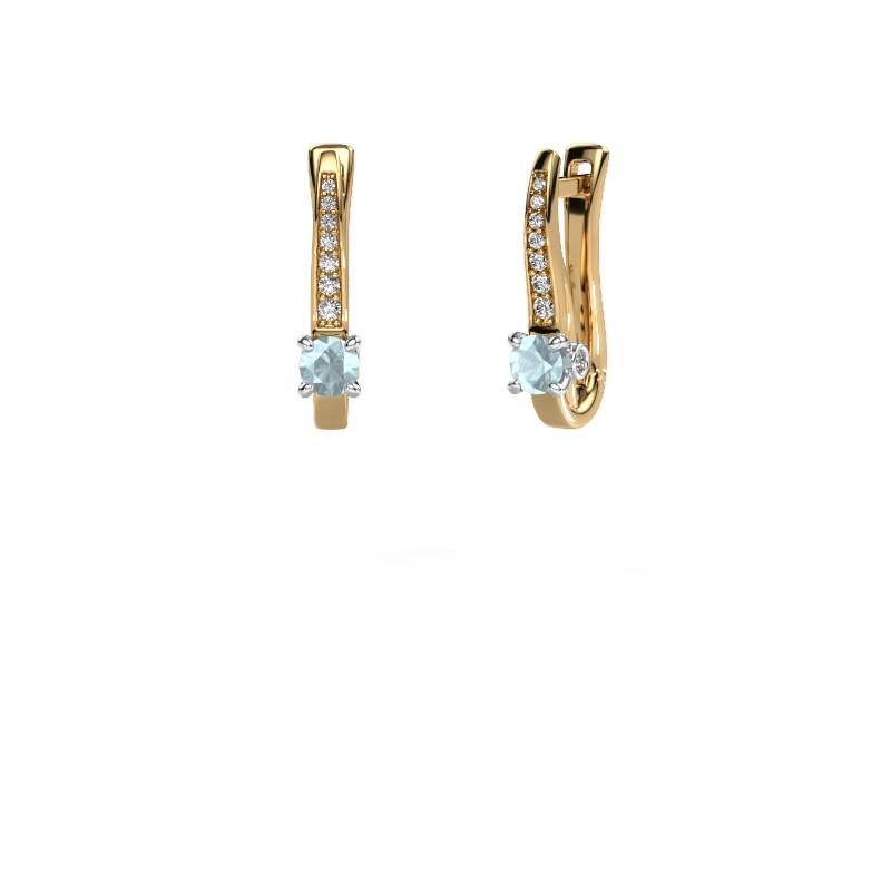 Ohrringe Valorie 585 Gold Aquamarin 4 mm