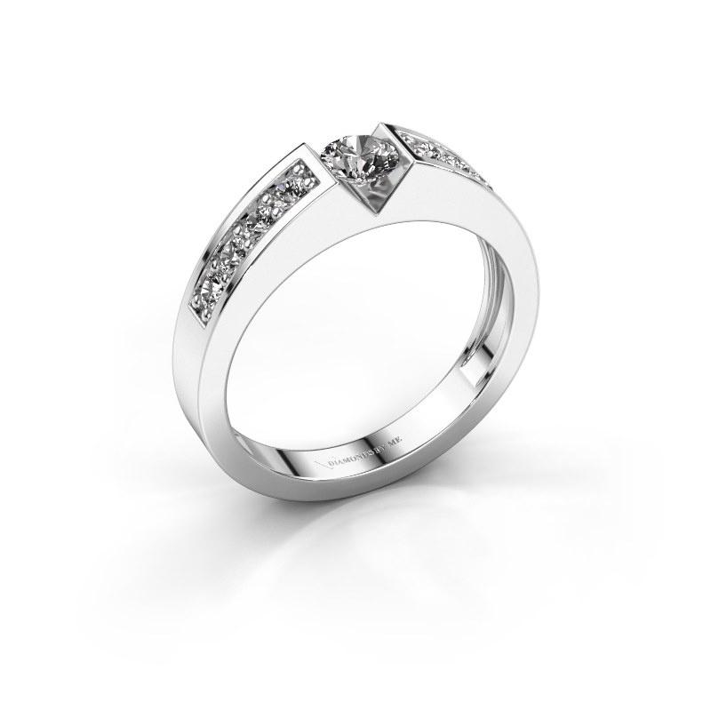 Engagement ring Lizzy 2 950 platinum zirconia 4.2 mm