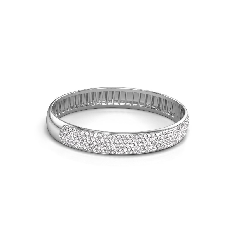 Slavenarmband Emely 10mm 585 witgoud lab-grown diamant 4.355 crt
