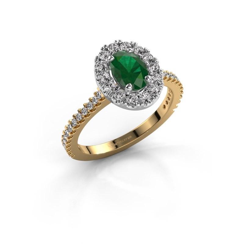 Verlobungsring Jorinda 2 585 Gold Smaragd 7x5 mm