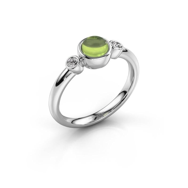 Ring Muriel 925 zilver peridoot 5 mm