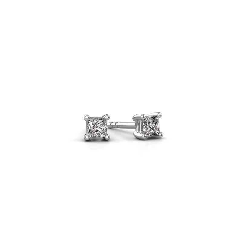 Oorstekers Sam square 585 witgoud lab-grown diamant 0.40 crt