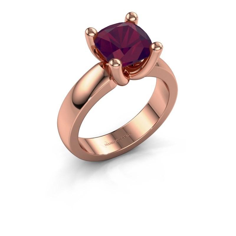 Ring Clelia CUS 585 rosé goud rhodoliet 8 mm