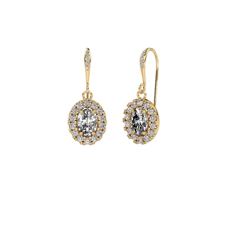 Oorhangers Jorinda 2 585 goud lab-grown diamant 2.19 crt