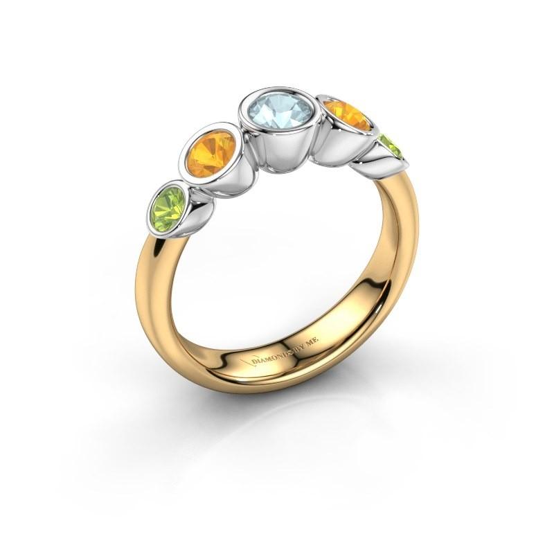 Ring Lizz 585 gold aquamarine 4 mm