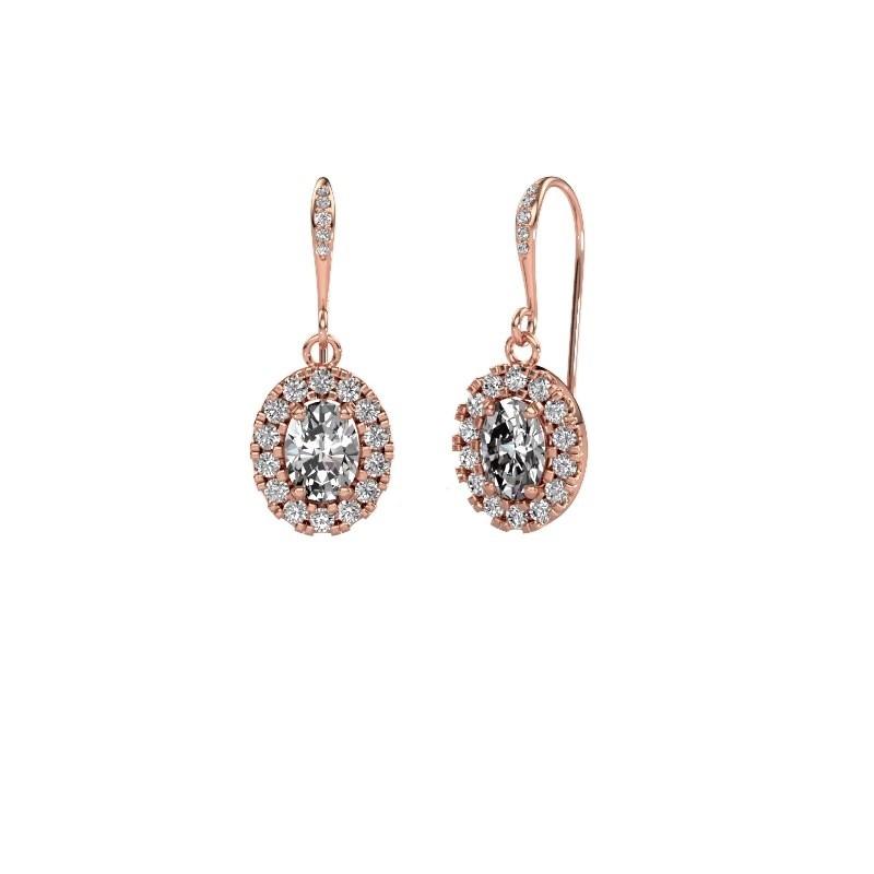 Oorhangers Jorinda 2 375 rosé goud lab-grown diamant 2.19 crt