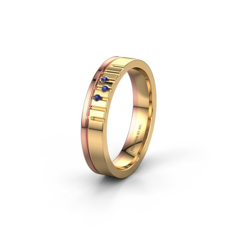 Friendship ring WH0332L14X 585 gold sapphire ±4x1.5 mm