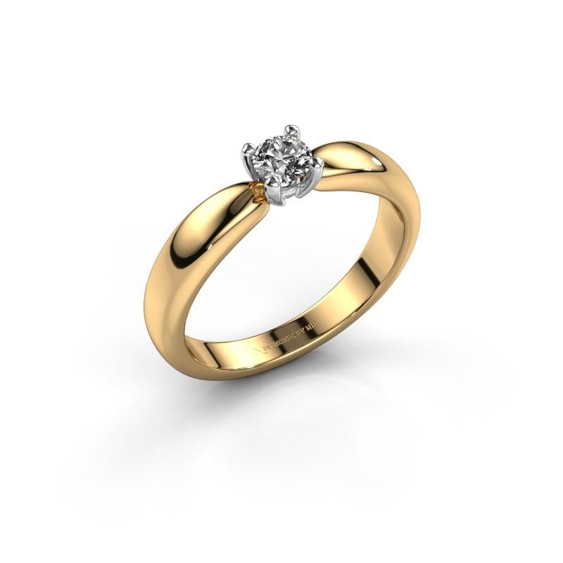 Promise ring Katrijn 585 goud diamant 0.25 crt