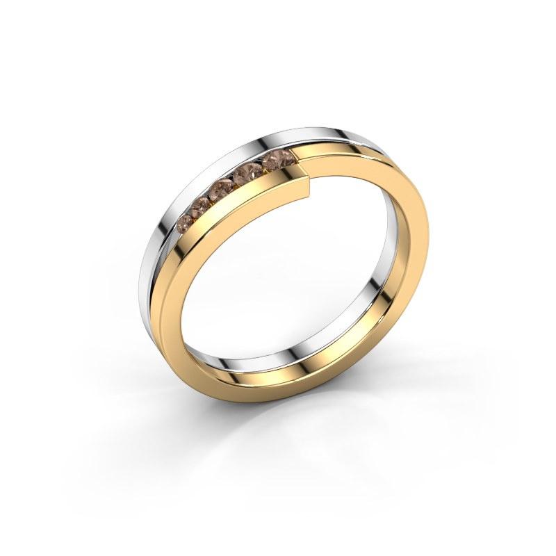 Ring Cato 585 white gold brown diamond 0.125 crt