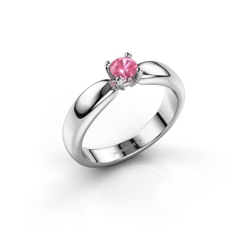 Promise ring Katrijn 925 silver pink sapphire 4.2 mm